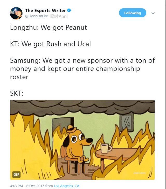 ESPN作者盛赞KT新成员 称唯有SKT处在水深火热中